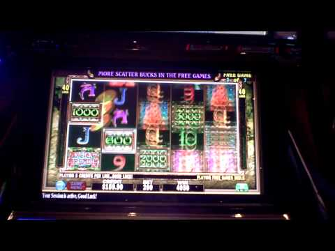 Slot machine bonus win at Revel Casino in AC on Ancient Arcadia
