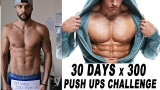 30 Days 300 Push Ups Challenge - Does Overtraining Exist ? - Day 1