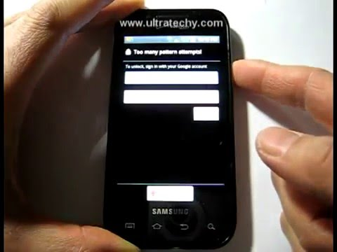 How to unlock Android Phone  After Too Many Pattern Attempts Easy Solution