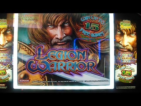 Legion Warrior MAX BET BIG WIN Slot Machine Bonus Round Free Games