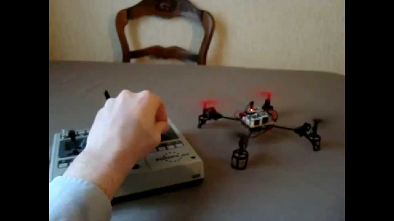 Radio controlled quadcopter with arduino and brushed