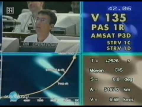 AMSAT P3-D: Countdown and Launch with Ariane 507, V135