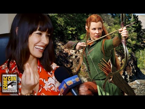 Evangeline Lilly Talks The Hobbit & The Squickerwonkers - Comic Con 2014