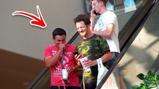 AWKWARD PHONE CALLS on the ESCALATOR PRANK!