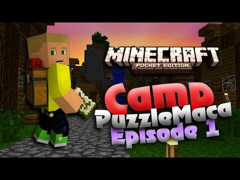 MCPE Puzzle Map Camp PuzzleMaca Ep. 1