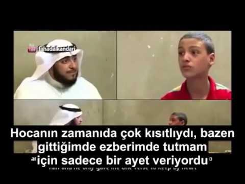 Gözleri Görmeyen Çocuğun Kuran-ı Kerimi Ezberlemesi