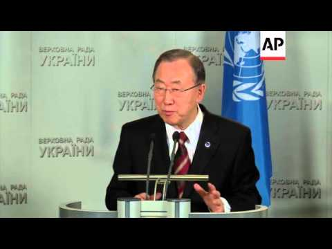 UN chief holds news conference with Ukrainian president