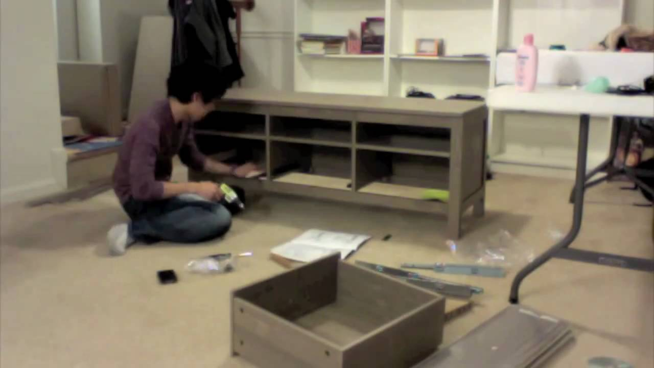 Time lapse assembly tv stand youtube for End of bed tv stand ikea
