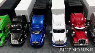 Mô hình xe đầu kéo container, xe tải nặng