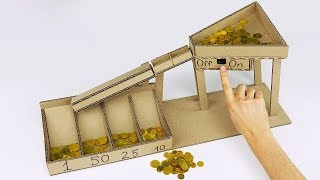 DIY Automatic Coin Sorting Machine from Cardboard v2.0