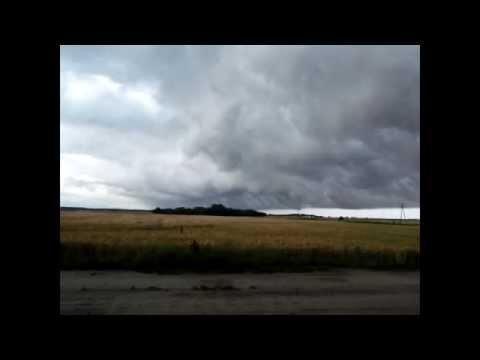 Potężna  Burza + Shelf Cloud + Funnel Cloud ☆ Więcbork ☆ Runowo Krajeńskie