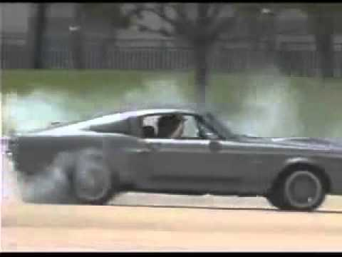 1967 Shelby Gt500 Eleanor Burnout Drift Youtube