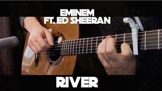 Download Lagu Eminem - River ft. Ed Sheeran - Fingerstyle Guitar Gratis STAFABAND