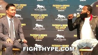 """ADRIEN BRONER GETS IRRITATED WHEN PACQUIAO ASKED ABOUT MAYWEATHER REMATCH; LASHES OUT """"F FLOYD"""""""