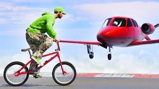 IMPOSSIBLE BMX vs. JETS! (GTA 5 Funny Moments)