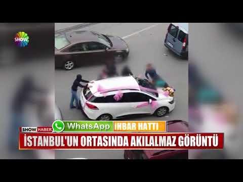 İstanbul'un ortasında akılalmaz görüntü
