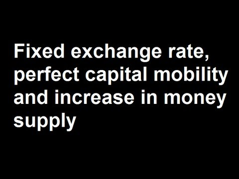 Fixed exchange rate, perfect capital mobility and increase in money supply