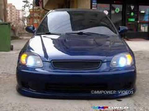 Honda Civic VTI vtec Hard Blue Designed By MMPower - YouTube