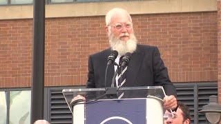 David Letterman at Peyton Manning statue unveiling: