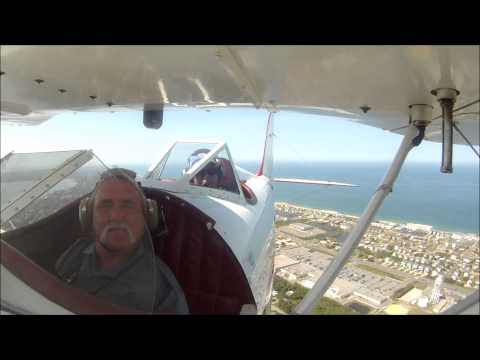 Kevin's Flight over Outer Banks with OBX Biplanes