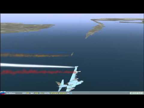 Воздушный бой Су-25 vs Су-25 пушечная дуэль LOFC2 ч.1