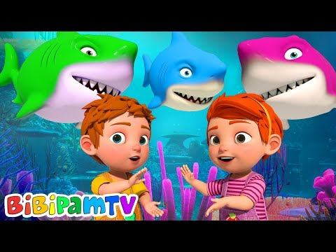 Baby Shark Song | BiBiPam Nursery Rhymes Songs | Animals Song for Kids