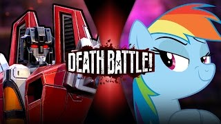 Starscream VS Rainbow Dash (Transformers VS My Little Pony) | DEATH BATTLE!