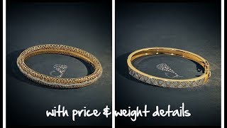 Latest Gold Bangles Designs With price & Weight || lifestyle