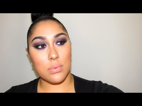 """MAC X 9 Purple Smokey Eyes. (Full Face """"how to"""" Tutorial) (double/small eyelids & full brows)"""