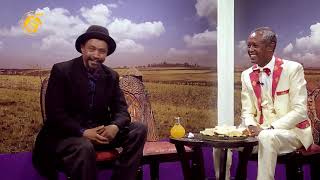 Comedian Dereje Haile with Comedian Lemeneh Tadesse