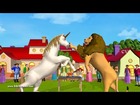 The Lion And The Unicorn -3d Animation English Nursery Rhyme For Children video