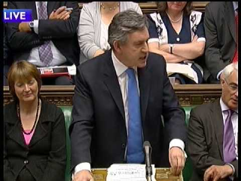 PMQ's 1st July 2009 most on spending Cameron to Brown