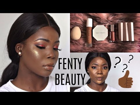 RIHANNA FENTY BEAUTY My First Impressions Full Face + Review For Dark Skin   MsDebDeb