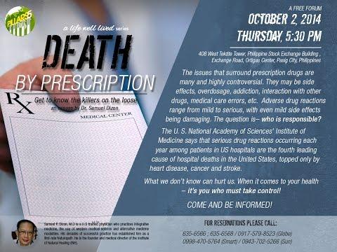 Death by Prescription - Dr. Dizon Forum