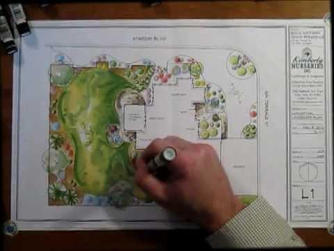 Landscape Design Color Rendering - YouTube