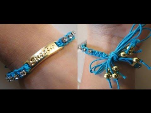 Pulseira macramê com pingente no meio passo a passo- Macrame bracelet with pend