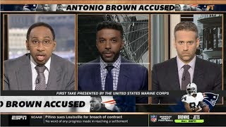 ESPN FIRST TAKE [LEGAL ANALYST] Antonio Brown accused in lawsuit of raping former trainer