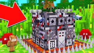 HOW TO LIVE INSIDE WORLD'S MOST SECURE BASE IN MINECRAFT!