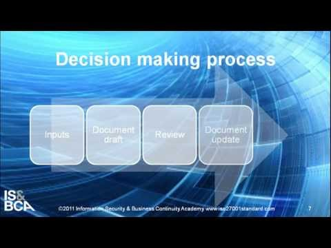 Decision making process | How to Write ISO 27001/ISO 22301 Internal Audit Procedure