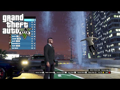 GTA 5 Online Collecting Bounties, Cheater Vision and the Hydro Pump Modder