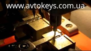 Изготовление ключа  Honda на станке type368