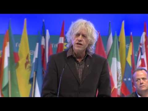 Sir Bob Geldof - Keynote Speech at the One Young Summit 2014 Opening Ceremony