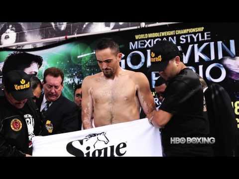 HBO Boxing News: Golovkin vs. Rubio Weigh-In