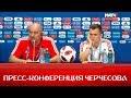 Черчесов и Черышев ответили на вопросы перед игрой со сборной Испании