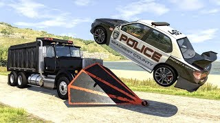 Crazy Police Chases #60 - BeamNG Drive Crashes