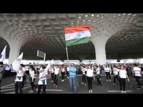 Breaking Free at T2 International Airport, Mumbai (Flash mob at T2 on Independence Day)