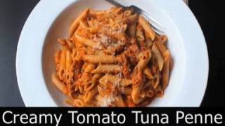 Creamy Tomato Tuna Pasta - Easy Tuna Penne Pasta Recipe : Foodwishes
