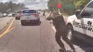 Bodycam Shows Police Shootout With Armed Carjacking Suspect in Florida