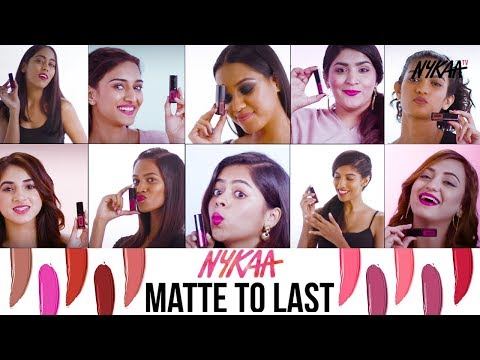 Swatches and Try On | Nykaa Matte To Last Liquid Lipstick Range