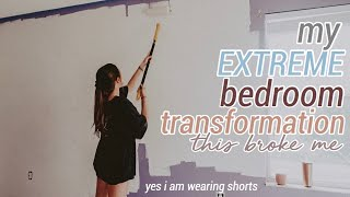my EXTREME bedroom makeover